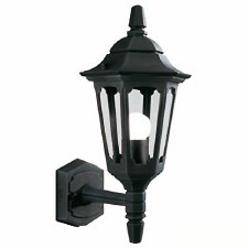 Elstead Parish Mini Outdoor Wall Uplight Lantern Black