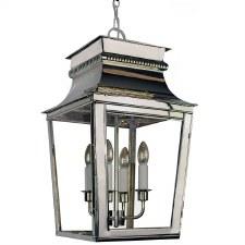 Parisienne Lantern Large Polished Nickel