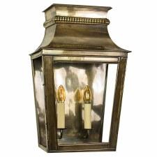 Parisienne Flush Outdoor Wall Light Large - Light Antique Brass