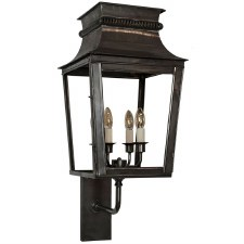 Parisienne Outdoor Wall Light Large Antique Brass