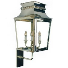 Parisienne Outdoor Wall Light Large Polished Nickel