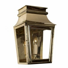 Parisienne Flush Outdoor Wall Light Small Polished Brass Unlacquered
