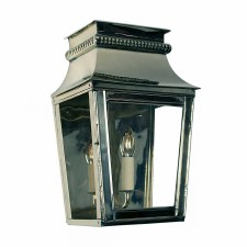 Parisienne Flush Outdoor Wall Light Small Polished Nickel