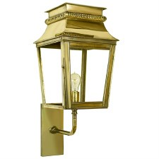 Parisienne Outdoor Wall Light Small Polished Brass Unlacquered