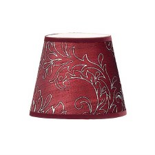 Candle Clip Lampshades Burgundy Silk