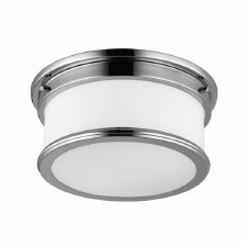 Feiss Payne Bathroom Flush Light Polished Nickel