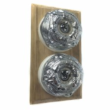 Art Nouveau Round Dolly Light Switch 2 Gang Polished Chrome