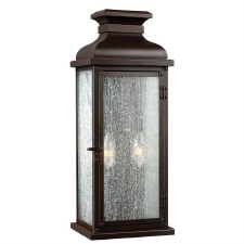 Feiss Pediment Outdoor Wall Lantern Medium Dark Aged Copper
