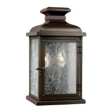 Feiss Pediment Outdoor Wall Lantern Small Dark Aged Copper