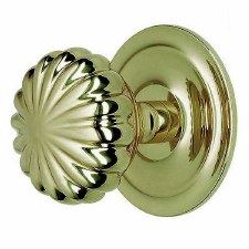 Peel Centre Door Knob Polished Brass