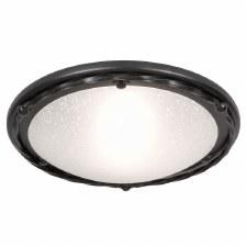 Elstead Pembrooke Flush Ceiling Light Black