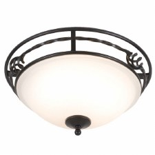Elstead Pembrooke Flush Ceiling Light Black