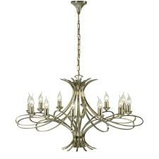 Interiors 1900 Penn 12 Light Chandelier Brushed Brass