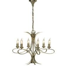 Interiors 1900 Penn 6 Light Chandelier Brushed Brass
