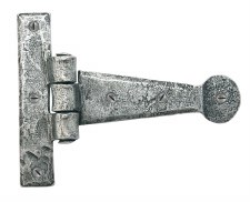 """From The Anvil Penny End Tee Hinges 4"""" Pewter Patina"""