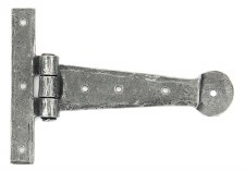 "From The Anvil Penny End T Hinges 6"" Pewter"