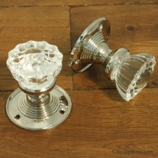 Petal Glass Door Knobs Polished Nickel