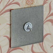 Pewter Dolly Switch 1 Gang 2 Way