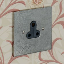 Pewter Lighting Socket Round Pin 5A