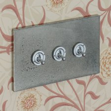 Pewter Dolly Switch 3 Gang