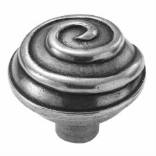 Finesse Swirl Cabinet Knob 45mm PCK001 Solid Pewter