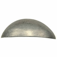 Finesse Wilton Plain Cup Handle Drawer Pull PCH001 Solid Pewter