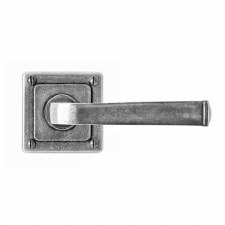 Finesse Allendale Door Handles on Square Rose FD071 Solid Pewter