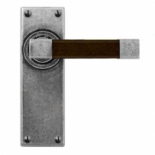 Finesse Eden Door Latch Handles FD158 Pewter & Walnut