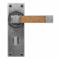 Finesse Eden Bathroom Handles FD159 Pewter & Oak