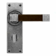 Finesse Eden Bathroom Handles FD160 Pewter & Walnut