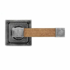 Finesse Eden Door Handles Square Rose FD163 Pewter & Oak