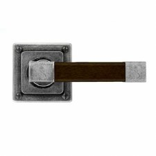 Finesse Eden Door Handles Square Rose FD164 Pewter & Walnut
