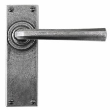 Finesse Tunstall Door Handles Latch Plate FD301 Solid Pewter