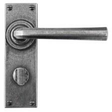 Finesse Tunstall Bathroom Door Handles FD302 Solid Pewter
