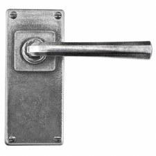 Finesse Tunstall Door Handles Jesmond Plate FD306 Solid Pewter