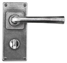 Finesse Tunstall Door Handles Jesmond Plate FD307 Solid Pewter