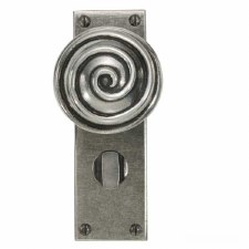 Finesse Swirl Bathroom Door Knobs FD035 Solid Pewter