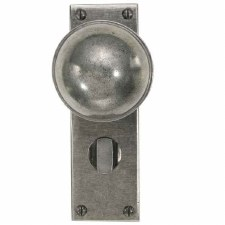 Finesse Beamish Bathroom Door Knobs FD039 Solid Pewter