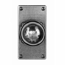 Finesse Pelton Door Knobs on Short Jesmond Plate FD176 Solid Pewter