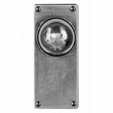 Finesse Pelton Door Knobs Jesmond Latch Plate FD177 Solid Pewter