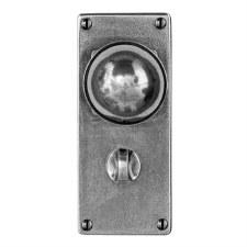 Finesse Pelton Bathroom Door Knobs Jesmond Plate FD178 Solid Pewter