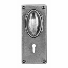 Finesse Lincoln Door Knobs Jesmond Lock Plate FD197 Solid Pewter