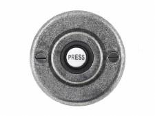 Solid Pewter Bell Push Circular