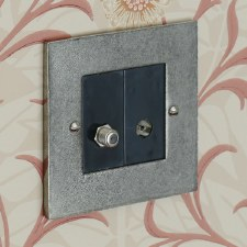 Pewter TV Socket Outlet/Satelite Socket