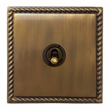 Georgian Dolly Switch 1 Gang Antique Brass Lacquered