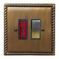 Georgian Switched Fused Spur Illuminated Antique Brass Lacquered