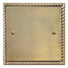 Georgian Single Blank Plate Antique Satin Brass