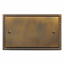 Georgian Double Blank Plate Antique Brass Lacquered