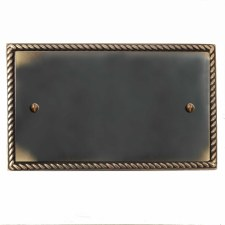 Georgian Double Blank Plate Dark Antique Relief
