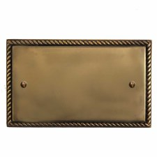 Georgian Double Blank Plate Hand Aged Brass